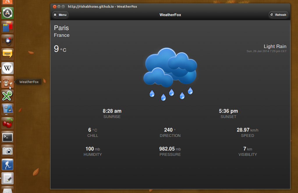 weather app firefox marketplace